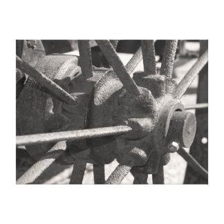 Antique Wagon Wheel Wrapped Canvas Print