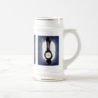 Antique Wall Barometer Pop Art Blue Print Beer Stein