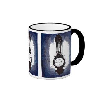 Antique Wall Barometer Pop Art Blue Print Coffee Mugs