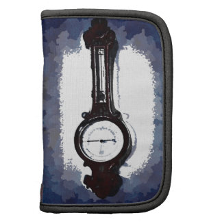 Antique Wall Barometer Pop Art Blue Print Planners