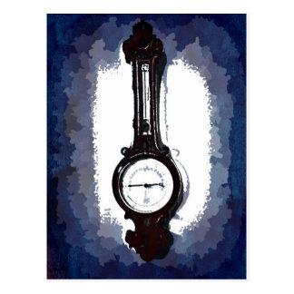Antique Wall Barometer Pop Art Blue Print Postcard