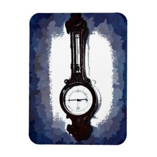 Antique Wall Barometer Pop Art Blue Print Magnet