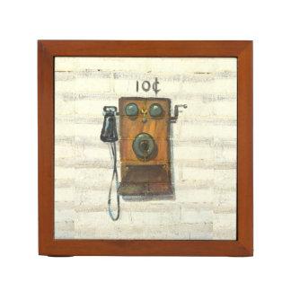 antique wall phone desk organizer
