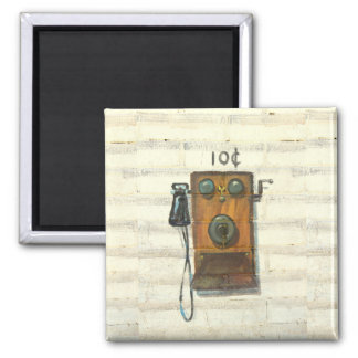 antique wall phone magnet