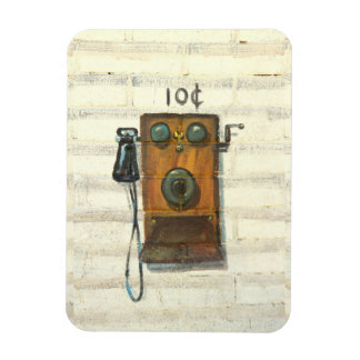 antique wall phone photo magnet
