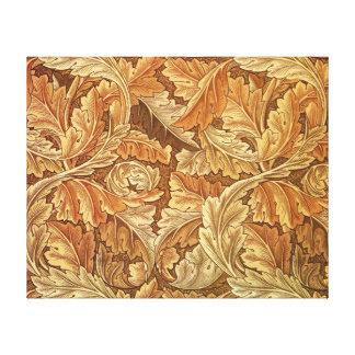 Antique Wallpaper Leaves - Acanthus Canvas Print