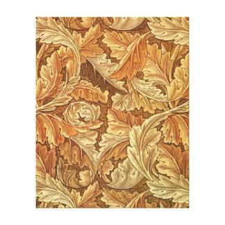 Antique Wallpaper Leaves - Acanthus Canvas Prints