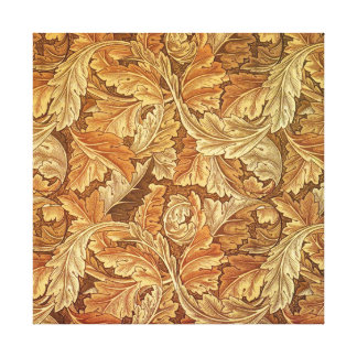 Antique Wallpaper Leaves - Acanthus Stretched Canvas Prints