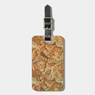 Antique Wallpaper Leaves - Acanthus Luggage Tag