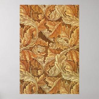 Antique Wallpaper Leaves - Acanthus Poster