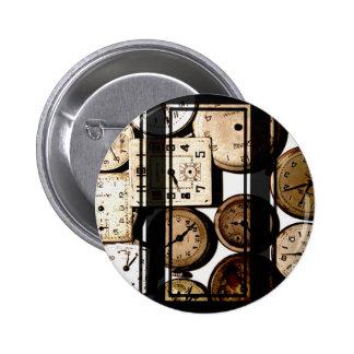 Antique Watch Faces Steampunk Pinback Button