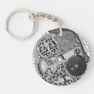 Antique Watch Keychain