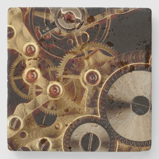 Antique Watch Mechanism Stone Coaster