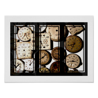 Antique Watches Triptych Poster
