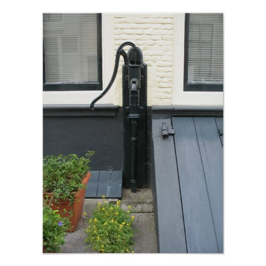 Antique Water Pump Holland House Photo Poster Art