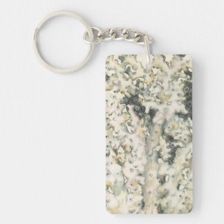 Antique Watercolor Coral Keychain