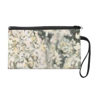 Antique Watercolor Coral Wristlet Purse
