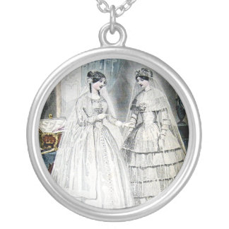 Antique Wedding Dresses Silver Plated Necklace