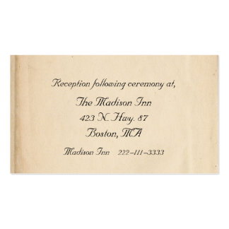 Antique Wedding enclosure cards Double-Sided Standard Business Cards (Pack Of 100)
