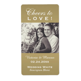 Antique Wedding Photo Wine Bottle Favor Labels