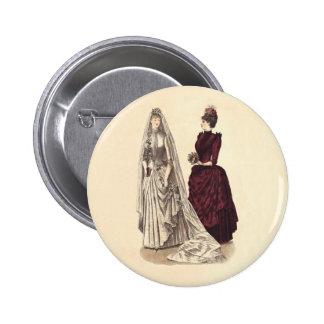Antique Wedding Pinback Button