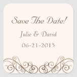 Antique Wedding Save The Date Stickers