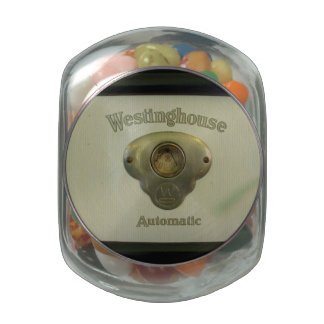Antique Westinghouse Glass Candy Jar