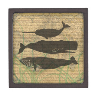 Antique Whale Vintage Artwork Rustic Gift Box
