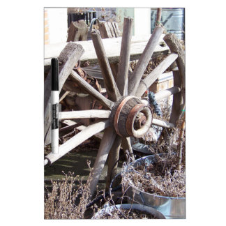 Antique Wheel Dry-Erase Board