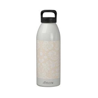 Antique White Damask Pattern Drinking Bottles