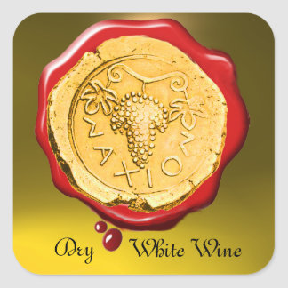 ANTIQUE WHITE GRAPE WINE RED WAX SEAL