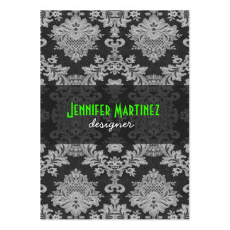 Antique White Gray Traditional Floral Lace Business Card Templates