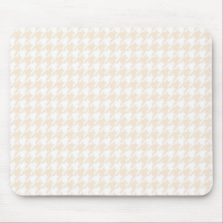Antique White Houndstooth Mouse Pad
