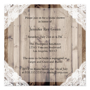 Antique White Lace Bridal Shower Invitation