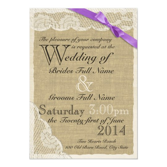 Antique White Lace Country Wedding Card