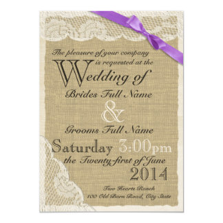 Antique White Lace Country Wedding 5x7 Paper Invitation Card