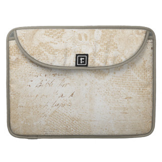 Antique White Lace MacBook Pro Laptop Sleeve