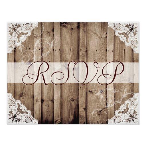 Antique White Lace Wedding RSVP...