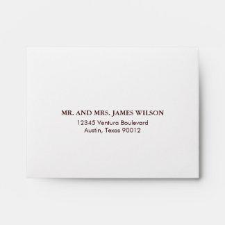 Antique White  Lace Wedding RSVP Envelope