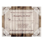 Antique White Lace Wedding RSVP Personalized Invite at Zazzle