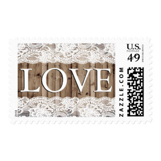 Antique White Lace Wedding Stamp