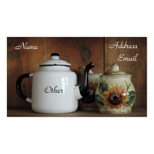 Antique White Teapot Double-Sided Standard Business Cards (Pack Of 100)