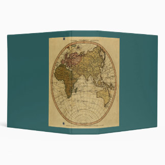 Antique William Faden 1786 Eastern Hemisphere Map 3 Ring Binder