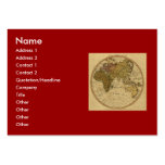 Antique William Faden 1786 Eastern Hemisphere Map Large Business Cards (Pack Of 100)