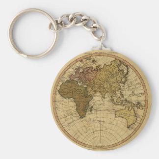 Antique William Faden 1786 Eastern Hemisphere Map Keychain