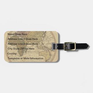 Antique William Faden 1786 Eastern Hemisphere Map Travel Bag Tag