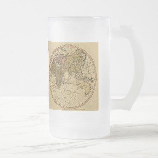 Antique William Faden 1786 Eastern Hemisphere Map Coffee Mugs