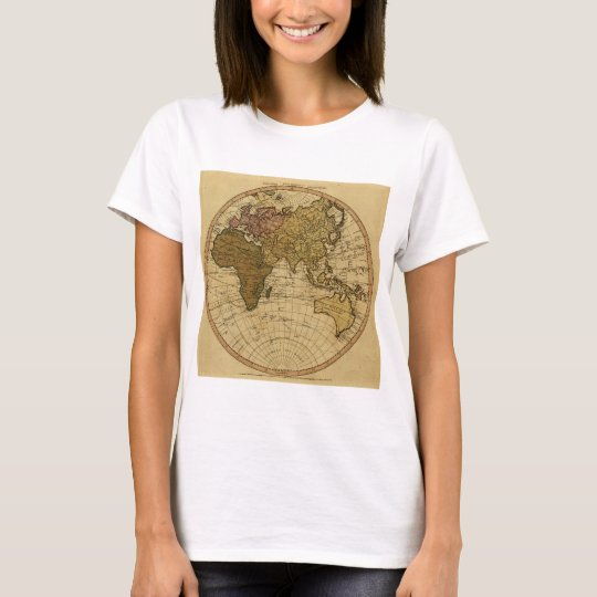 Antique William Faden 1786 Eastern Hemisphere Map T-Shirt
