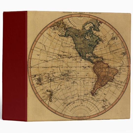 Antique William Faden 1786 Western Hemisphere Map Binder