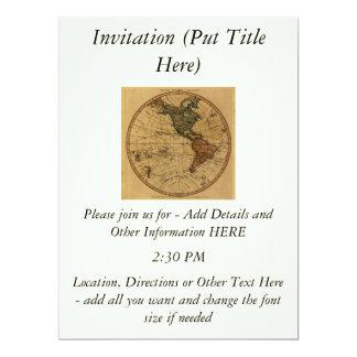 Antique William Faden 1786 Western Hemisphere Map Card